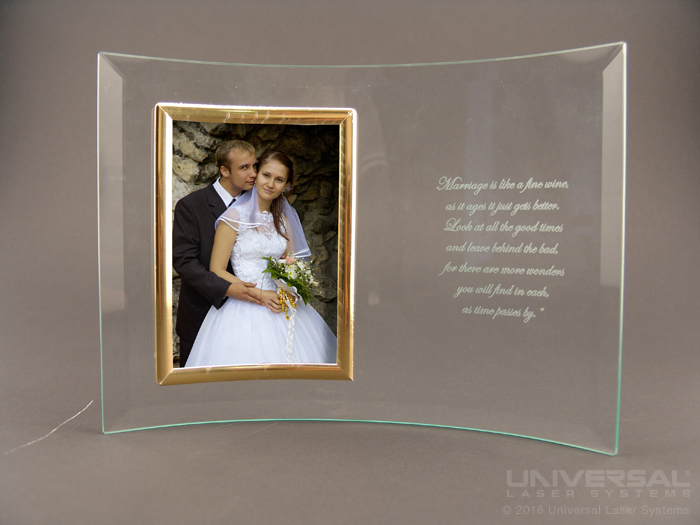 Glass Laser Marked Picture Frame