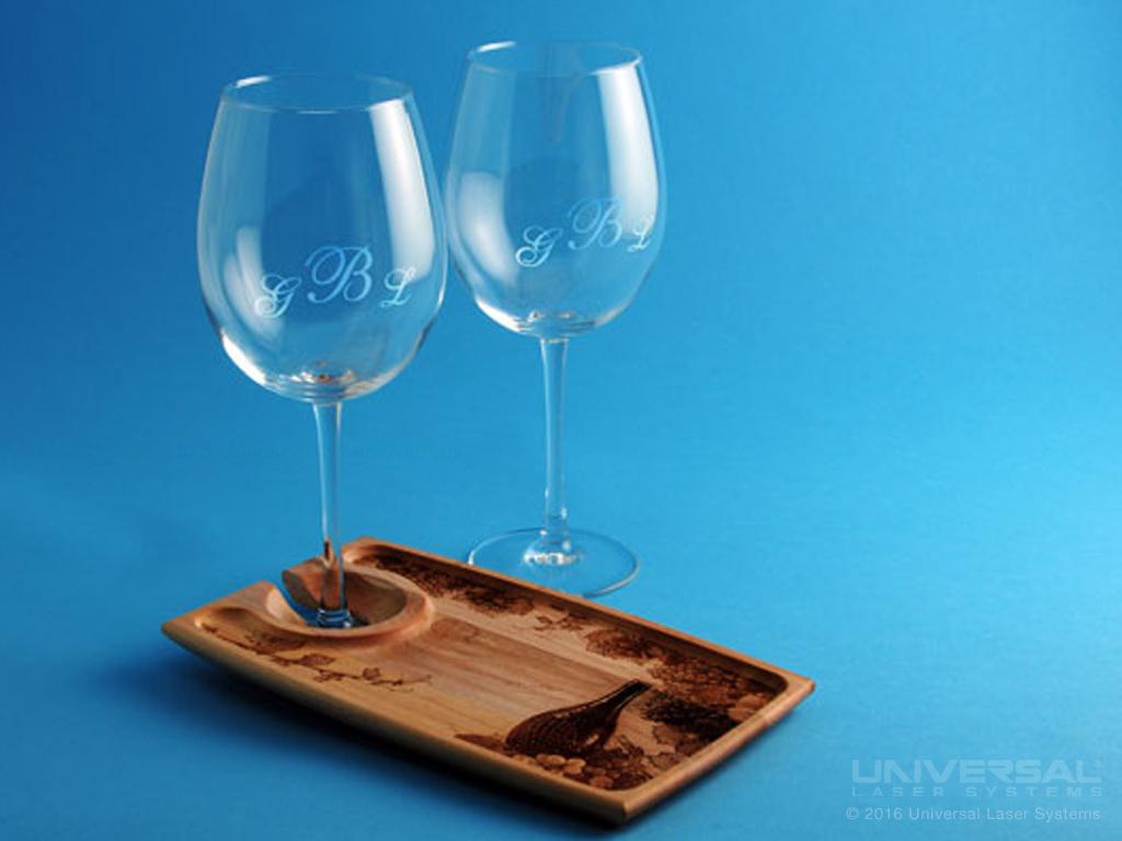Glass Laser Marked Wine Glasses