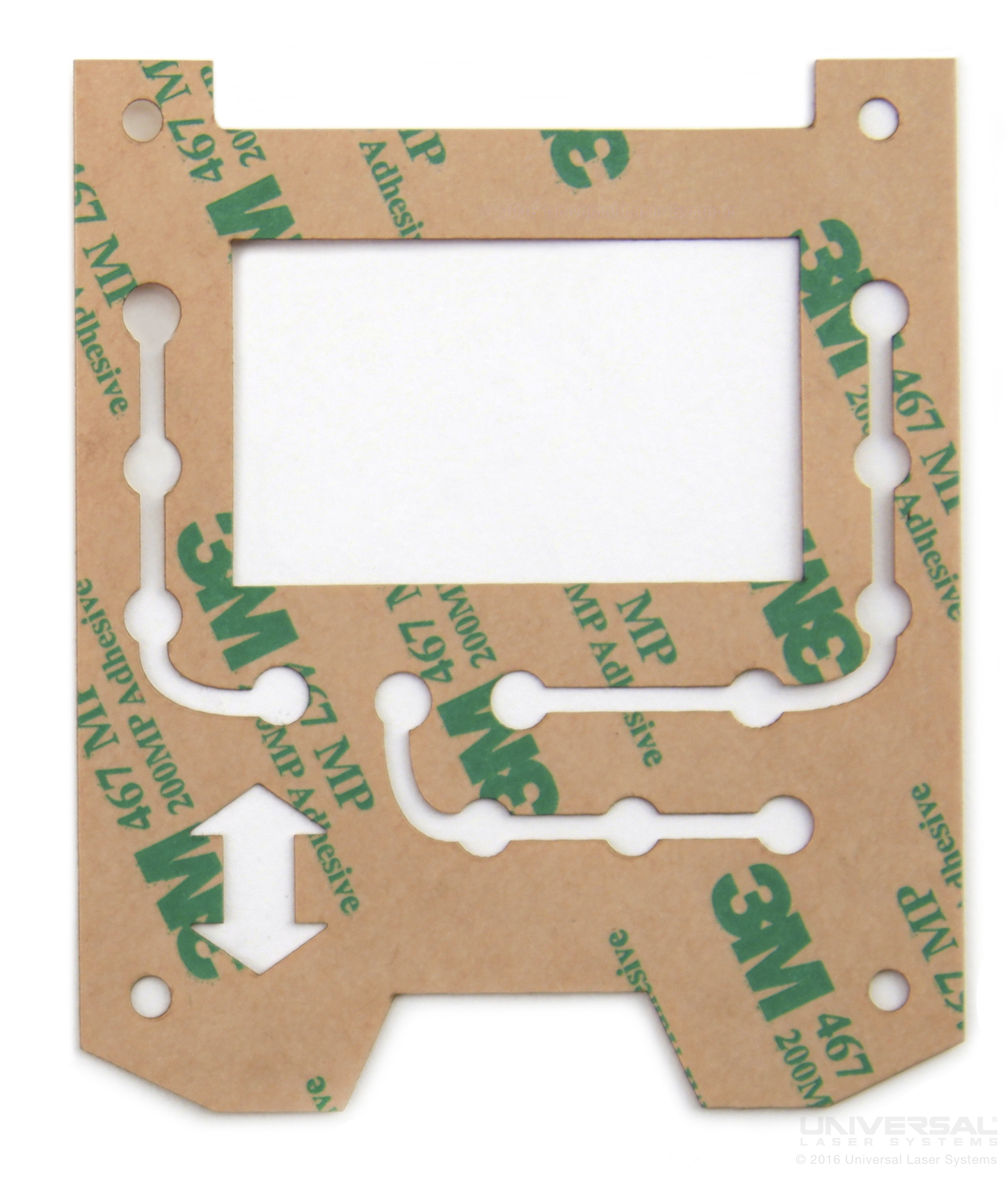 Membrane Switch Spacer Laser Cutting with a 10.6 micron CO<sub>2</sub> Laser