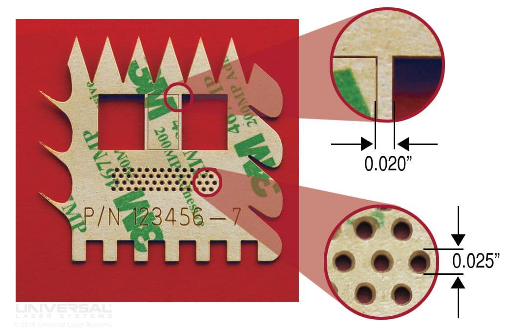 複雑なパターンでレーザー切断されたメンブレンスイッチャのスペーサー