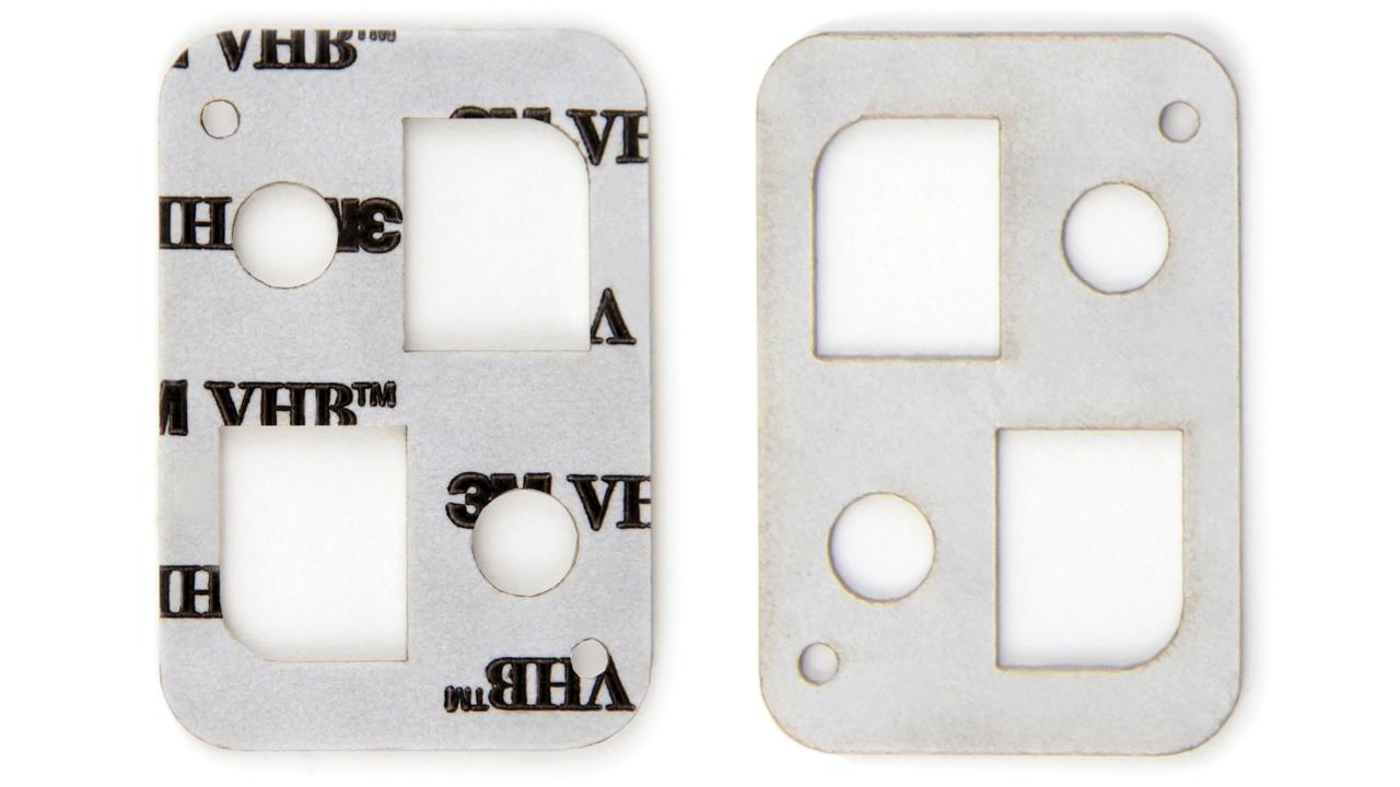 10.6 미크론 CO<sub>2</sub> 레이저를 이용한 3M™ VHB™ 접착 테이프 레이저 절단