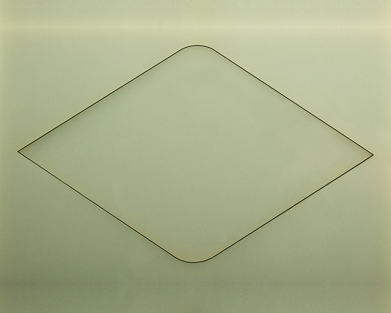 Halar® Laser Cut Kerf on Sheet
