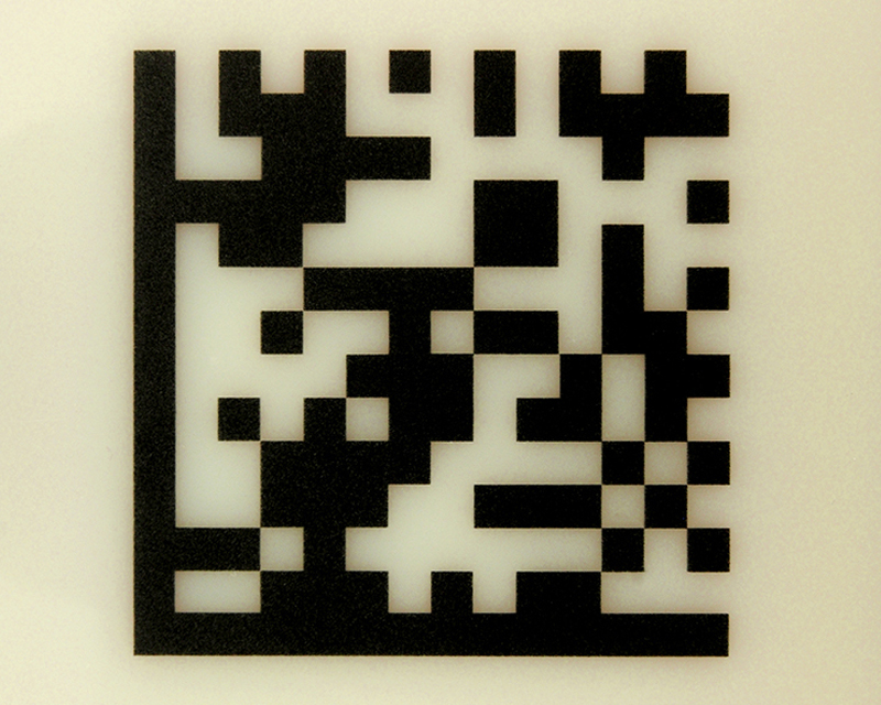 Halar® Laser Surface Marked with Fiber Laser into 2D Code