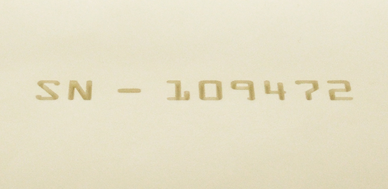 Halar® Laser Depth Marked with Serial Number