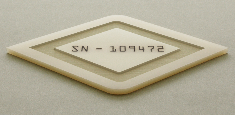 Halar® Laser Cut, Engraved, and Surface Marked with Serial Numbers