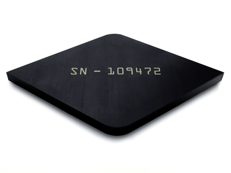 Black Teflon® with Surface Laser Marked Serial Number
