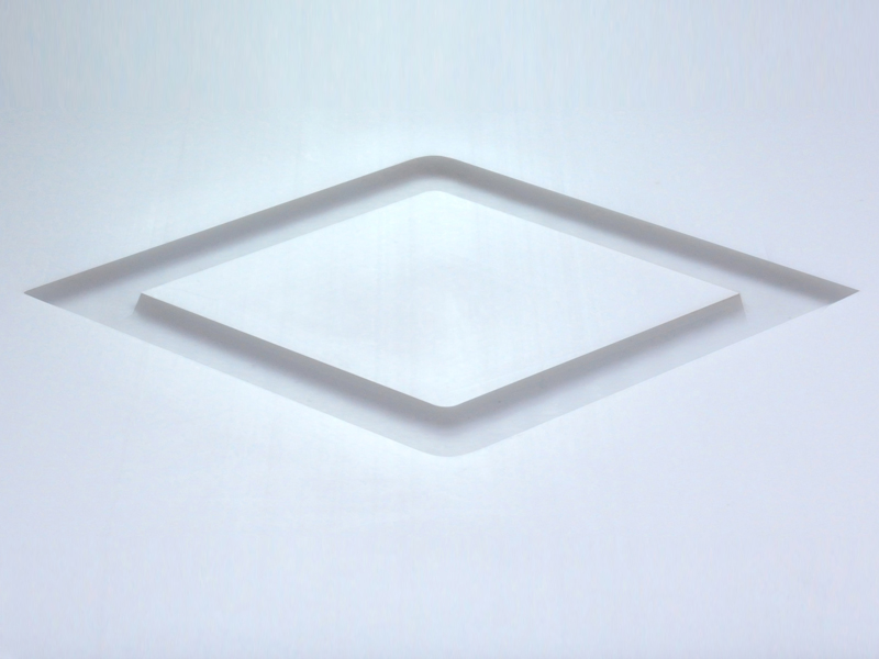 White Teflon® Laser Cut Diamond Shape