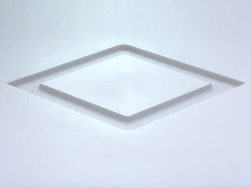 Weißes Teflon®, Laserschnitt in Rautenform