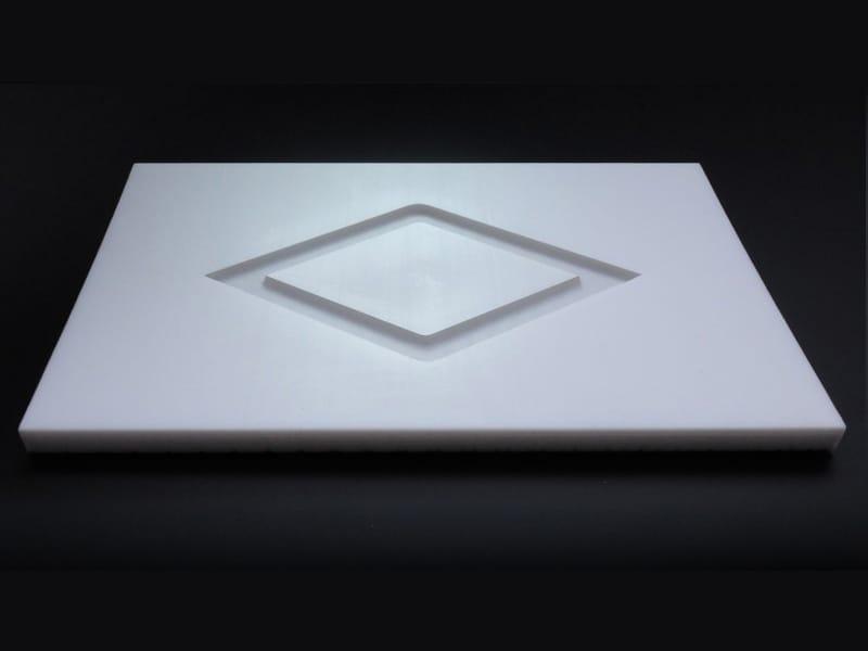 흰색 Teflon® 레이저 제판 다이아몬드 형상