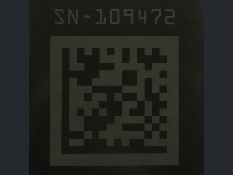 Viton® Laser Surface Marked for QR Code