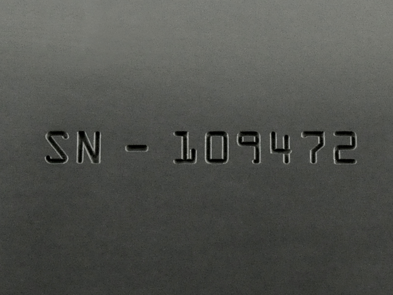 Viton® Laser Engraved with Depth for Serial Number