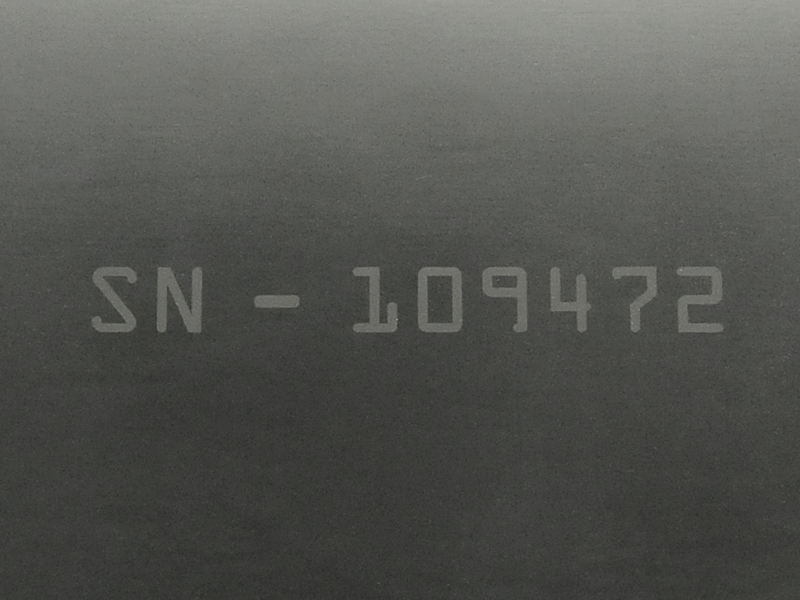 Viton® Fiber Laser Marked on Surface with Serial Number