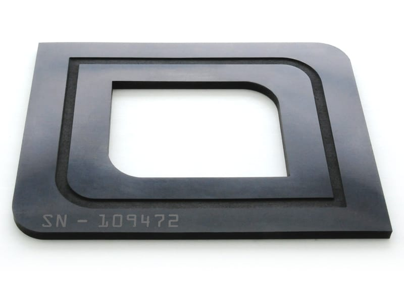Viton® Laser Cut, Engraved, and Surface Marked