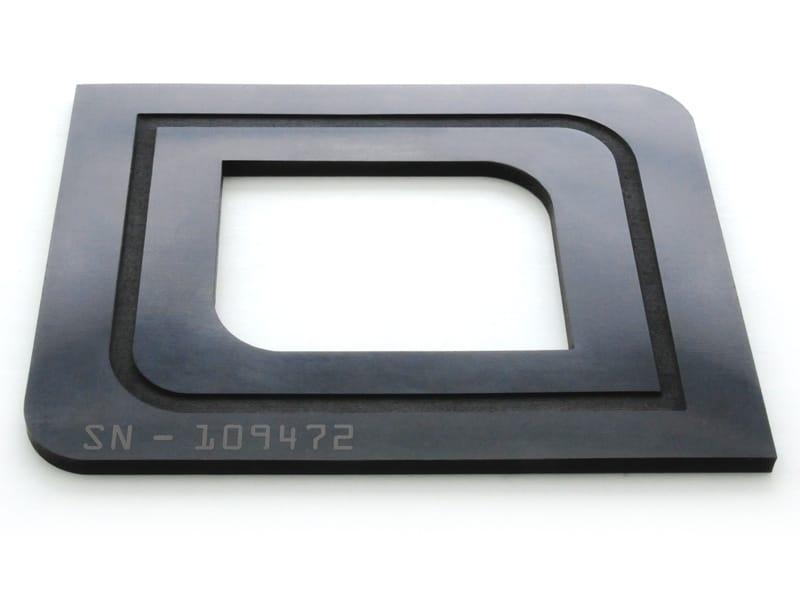 Viton® découpé, gravé et marqué en surface au laser