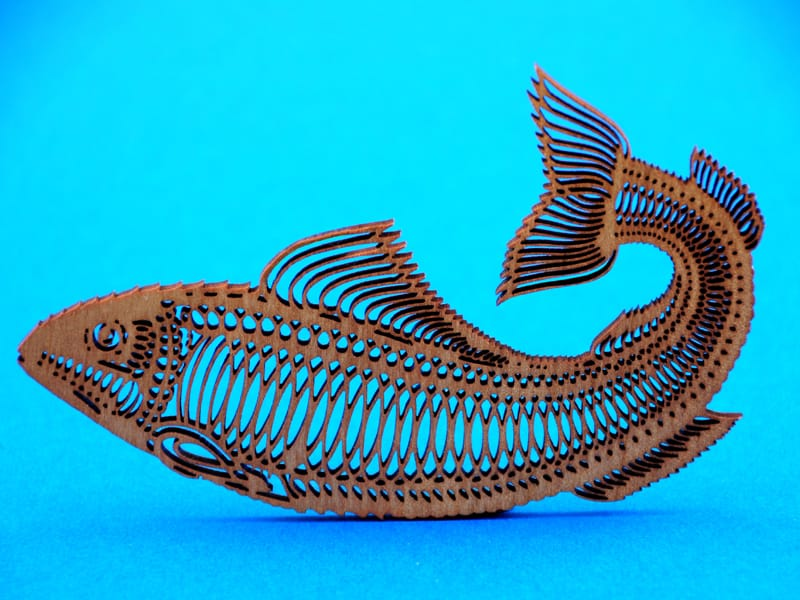 Laser Cut Wood Fish