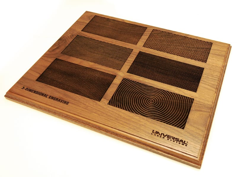 목재에 제판 가공한 정밀한 3D 패턴