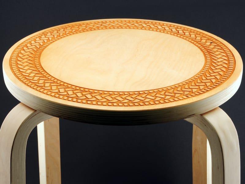 Laser Engraved Wood Tabletop