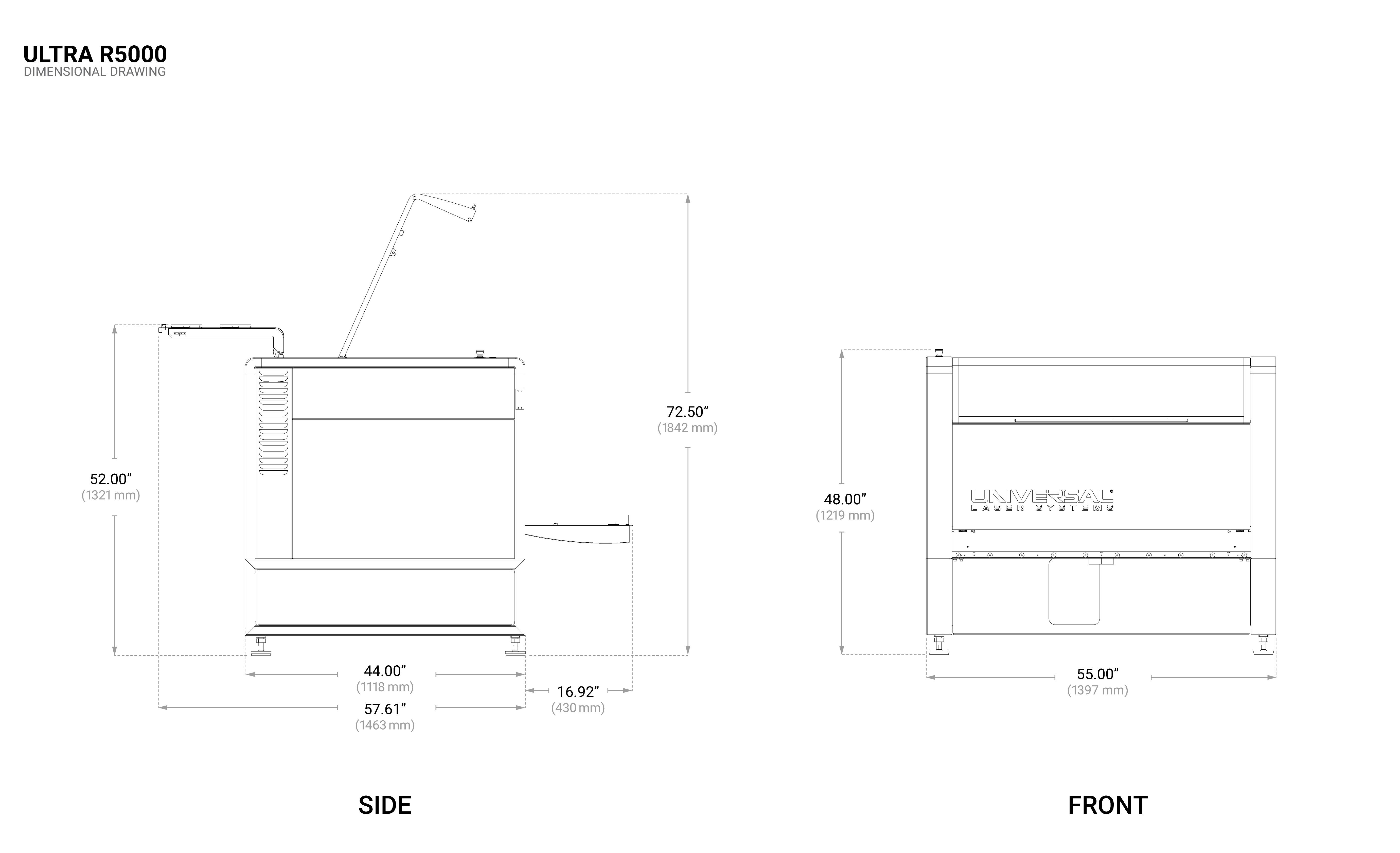 ULTRA R5000 Dimensional Drawing