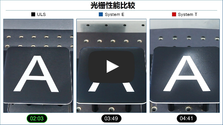 激光光栅性能比较视频