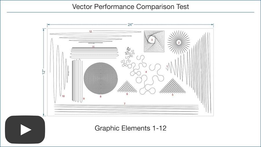 ユニバーサルレーザーのベクトター加工比較