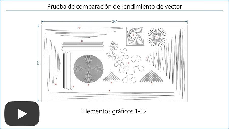 Comparación de vector Universal Laser