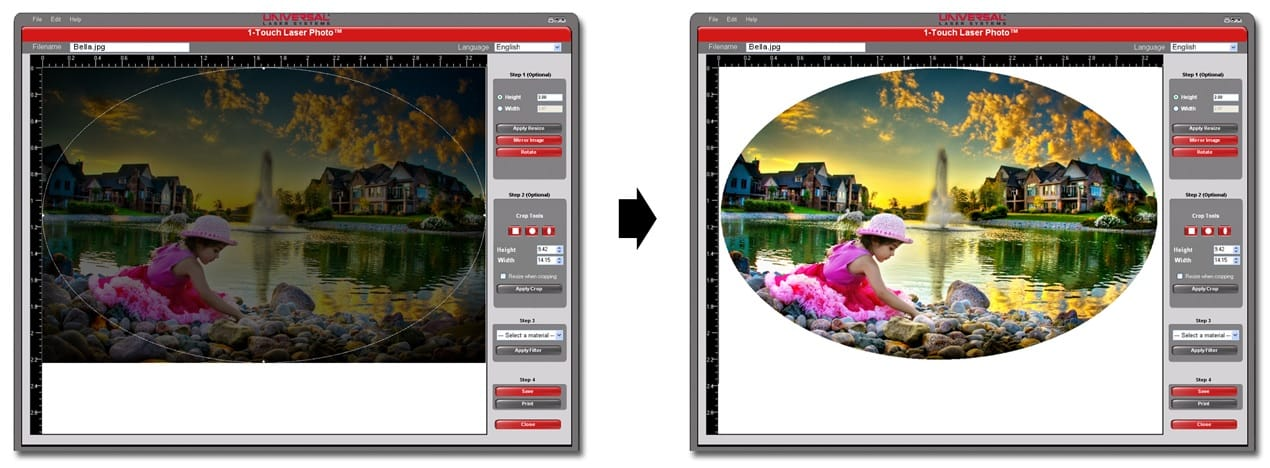 1 Touch Laser Photo Software App To Laser Engrave Photos
