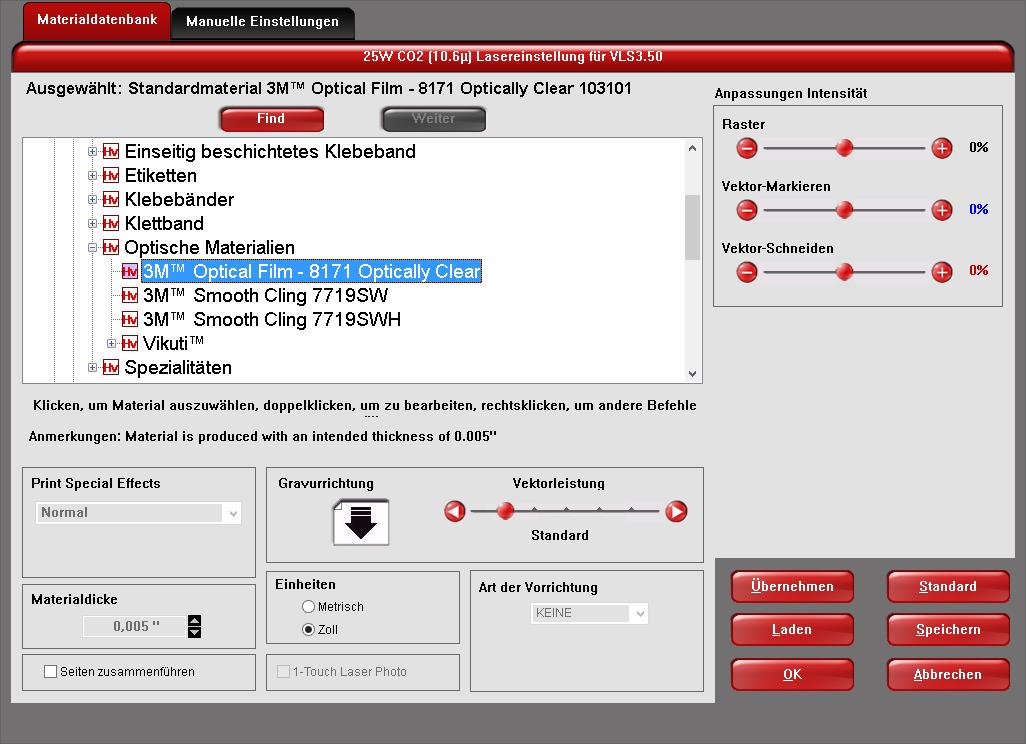 materialdatenbank-benutzeroberfläche
